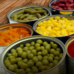 Jarred - Canned Fruit and Vegetables Frutas y Vegetales en Conserva